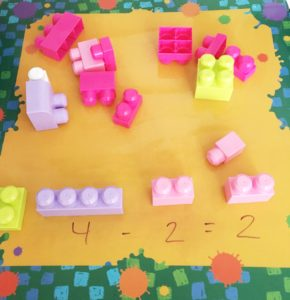 subtraction with legos