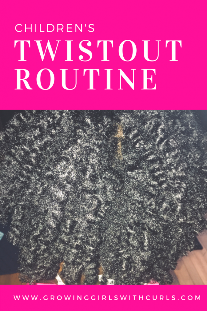 children's twist out routine