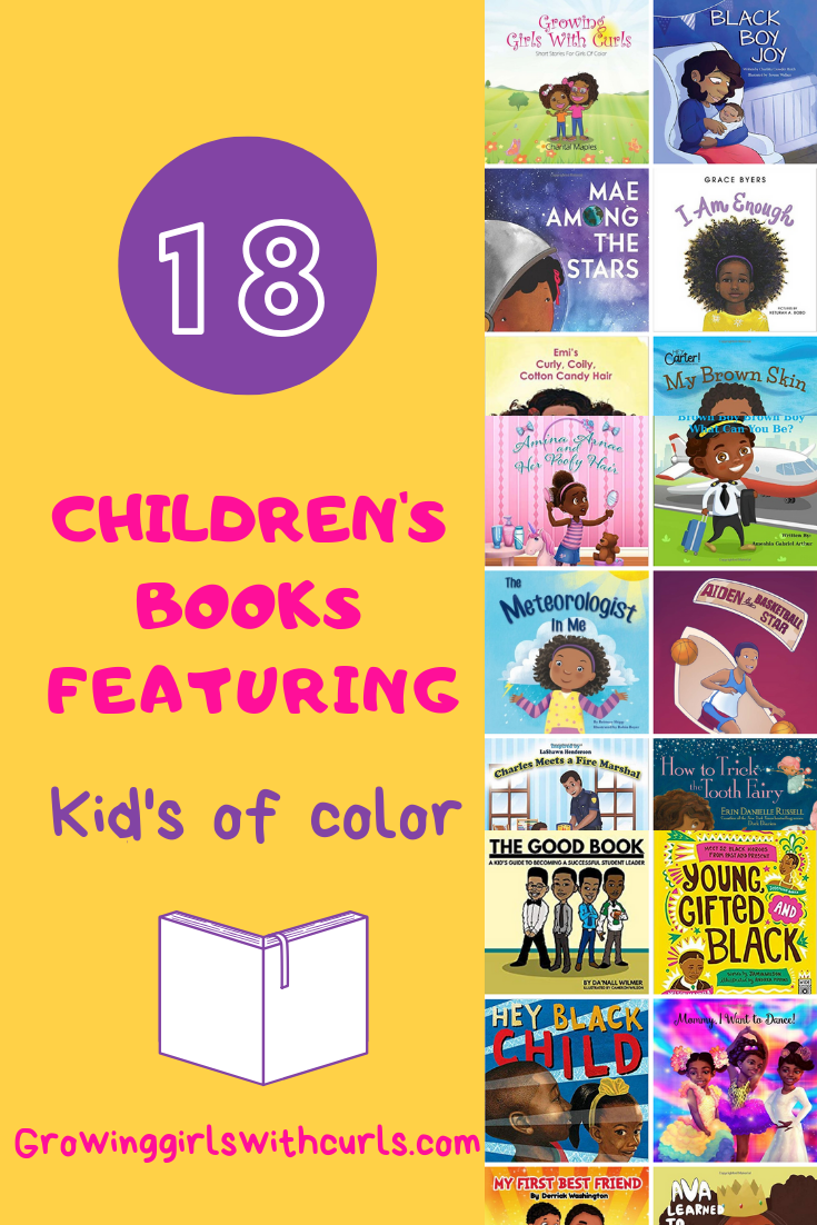 18 Children's books featuring kids of color.