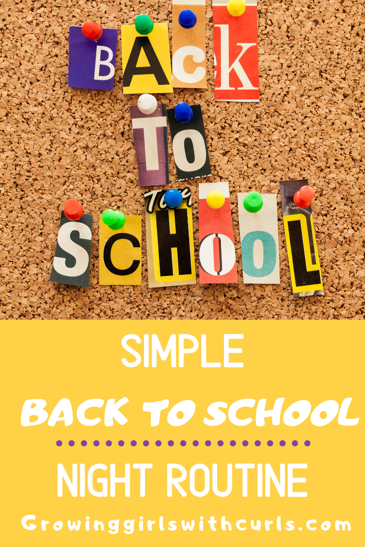 Simple back to school routine